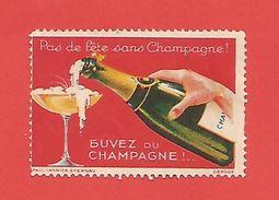 VIGNETTE Pas De Fête Sans Champagne (buvez Du Champagne) Paul Varnier Epernay - Erinnophilie