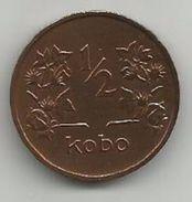 Nigeria 1/2 Kobo 1973. KM#7 - Nigeria