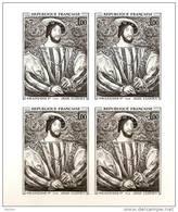 N° 1518 épreuve En Noir Bloc De 4 Issue De Poinçons Originaux Conservés Au Musée De La Poste Net 7.50 € - Prove Di Lusso