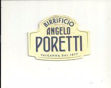 BIRRIFICIO PORETTI  VALGANNA  VARESE   ANGELO PORETTI  DAL 1877   --USATO-- - Portavasos