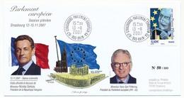 """FRANCE - Envel Affr 0,60 Pierre Pflimlin Oblit """"Strasbourg Parlement Européen GA"""" 13-11-2007 - European Ideas"""