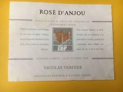 5165 - Rosé D'Anjou 1989 Nicolas Verdier Saumur - Etiquettes