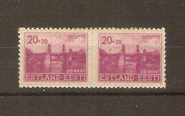German Occupation 1941 Michel # 5 UMs, Pair Imperf.between, Mint NH - Estonia