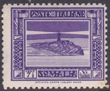 Italy-Colonies And Territories-Somalia S168 1932 Pictorials Perf 12  7.5c Lighthouse, MH - Somalia