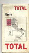 AUTOSTRADE--  ITALIA--TOTAL  BENZINE----EDIZIONE  --CARTA  STRADALE  1965 - Transporto
