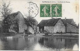 LE PERRAY LA FERME DU ROSEAU ANIMEE RARE PLAN INEDIT SUR DELCAMPE 1913 CLICHE COUTAS - Le Perray En Yvelines