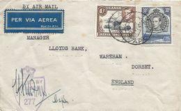 Kenya 1944 EA APO 9 East Africa British Military Forces Jinja Bridge Ripon Falls Censored Cover - Militares