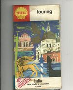AUTOSTRADE--  ITALIA--SHELL   BENZINE----EDIZIONE  --TOURING CARTA  STRADALE  1968 - Transporto