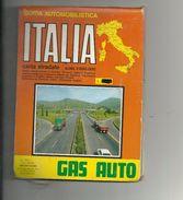 AUTOSTRADE--  ITALIA--GAS  AUTO --EDIZIONE  --CARTA  STRADALE  CON TUTTI I PUNTI  --GAS-- - Transporto
