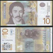 Serbia DEALER LOT ( 10 Pcs ) P 54 A - 10 Dinara 2011 - UNC - Serbia