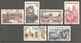 FRANCE 1957 - LOT Y.T. N° 1126  / 1131 - OBLITERES - Francia