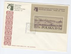 1973 POLAND FDC Miniature Sheet  ART POTZNAN, NICOLAUS COPERNICUS Philatelic Exhibition Cover Stamps Astronomy - Astronomy