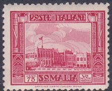 Italy-Colonies And Territories-Somalia S176 1932 Pictorials Perf 12  75c Red Government Palace, MH - Somalia