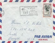 Cote D'Ivoire 1962 Abidjan Antilope Reserve De Faune Slogan Elephant Mask Cover - Ivoorkust (1960-...)