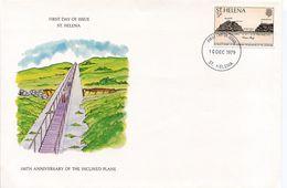 ST HELENA  150TH ANNIVERSARY OF THE INCLINED PLANE  1979  FDC64 - Non Classificati