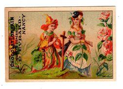 Chromo Imp. Appel 3-1-50, Chocolat Lorrain, Nancy, Fleurs Humanisés - Chocolat
