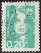 France 1990 Yv. N°2618 - 20c émeraude - Oblitéré - 1989-96 Marianne Du Bicentenaire