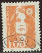 France 1990 Yv. N°2620 - 1F Orange - Oblitéré - 1989-96 Marianne Du Bicentenaire