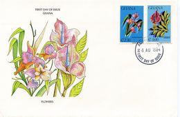 GHANA FLOWERS 1984  FDC86 - Ghana (1957-...)