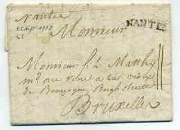 Lettre De NANTES à Destination De BRUXELLES / Lenain N°5 / 25 Sept 1779 - 1701-1800: Precursores XVIII