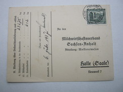 1937 , Hörsingen über Neuhaldensleben , Klarer Stempel Auf Karte - Briefe U. Dokumente