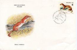 POLAND SMALL ANIMALS 1984  FDC93 - FDC