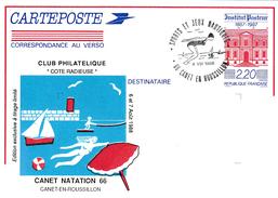 BT SUR EP ILLUSTRE INSTITUT PASTEUR, SPORTS ET JEUX NAUTIQUES CANET EN Ron TBRE COMMUNICATION - Postmark Collection (Covers)