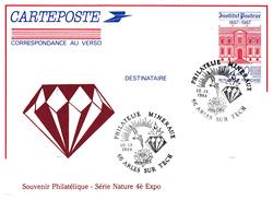 BT PHILATELIE MINERAUX ARLES SUR TECH SU EP REPIQUE PASTEUR - Postmark Collection (Covers)