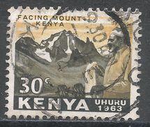 Kenya 1963. Scott #5 (U) Jomo Kenyatta, Mt. Kenya - Kenya (1963-...)