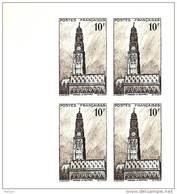 N° 567 épreuve En Noir Bloc De 4 Issue De Poinçons Originaux Conservés Au Musée De La Poste Net 5.50 € - Luxeproeven