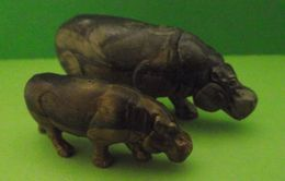 Figurines (Lessive OMO) Hippopotame Et Hippopotamo - Figurines