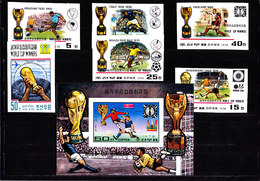 Soccer  World Cup 1978 - NORTH KOREA - S/S+Set Perf.+imp. MNH - 1978 – Argentine