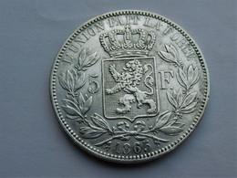 Belgie 5 Frank 1865 Dot After F - 11. 5 Francs