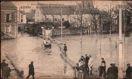 ! [95] Old Postcard  Inondations Janvier 1910, Bezons, Panorama, Place Du Marche, Überschwemmungen - Bezons