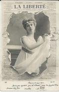 Advertising - Newspaper,journaux - LA LIBERTE. Girl,fashion,pin-ups.edition - S.I.P.Paris.Postcard Via 1902.Paris/Geneva - Publicité
