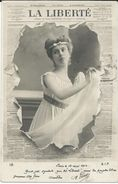 Advertising - Newspaper,journaux - LA LIBERTE. Girl,fashion,pin-ups.edition - S.I.P.Paris.Postcard Via 1902.Paris/Geneva - Reclame