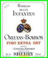 ETIQUETA  BODEGAS  DE LOS INFANTES DE ORLEANS DE BORBON S.A.  SANLUCAR DE BARRAMEDA - Etiquetas