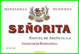 ETIQUETA  BODEGAS  MANUEL DE ARGÜESO S.A.  SANLUCAR DE BARRAMEDA - Etiquetas