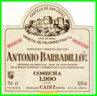ETIQUETA  BODEGAS  ANTONIO BARBADILLO S.A.  SANLUCAR DE BARRAMEDA - Etiquetas