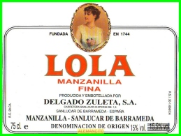 ETIQUETA  BODEGAS  DELGADO ZULETA S.A.  SANLUCAR DE BARRAMEDA - Etiquetas