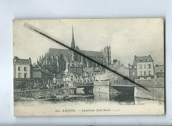 CPA - 630 - Amiens - Cathédrale -(Côté Nord )-  Cachet Au Verso : 114e Régiment Territorialde Compagnie - Amiens