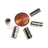 10 Perles Intercalaire Spacer TUBE Motif Arabesque 12x5mm Apprêt Créa Bijoux _ A146 - Perles