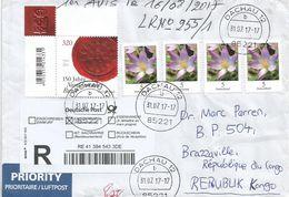Germany Deutschland 2017 Dachau Norddeutscher Bund Seal Flower Barcoded Registered Cover - [7] West-Duitsland