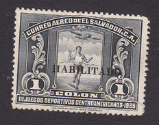 El Salvador, Scott #C45, Used, Runner Overprinted, Issued 1935 - El Salvador
