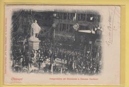 OLD POSTCARD ITALY - ITALIA  -    CHIAVARI - INAUGURAZIONE MONUMENTO GARIBALDI  1902 - Genova (Genoa)