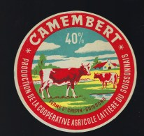 Etiquette Fromage  Camembert Ferme St Crepin Soissons Aisne 02  Vaches - Cheese