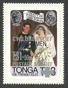 TONGA 1982 SPECIMEN ROYALTY ROYAL WEDDING DIANA ORCHIDS HURRICAINE SET MNH - Tonga (1970-...)