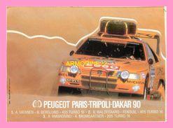 AUTOCOLLANT  Peugeot Paris Tripoli Dakar 90 - Stickers