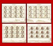 CHINA 2017-22  Schubert,Chopin,Liszt,Mahler, Foreign Musicians II Stamp FULL S/S - Musik