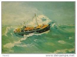 Boulogne Sur Mer-le Canot De Sauvetage -maria Georgina Felicie-1951-1975-cpm Dessin De Michel Boitard - Boulogne Sur Mer
